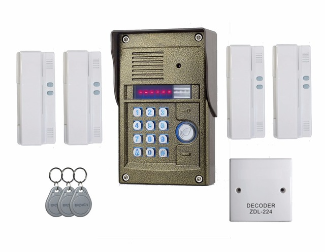 aliexpress com buy audio door phone for 4 apartments 2 wires rh aliexpress com