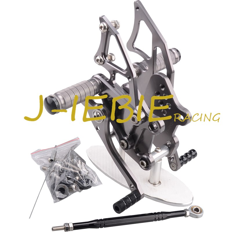 CNC Racing Rearset Adjustable Rear Sets Foot pegs Fit For Yamaha YZF R3 R25 2014 2015 TITAINUM cnc aluminum motorcycle accessories rearset base foot pegs rear for yamaha yamaha yzf r3 yfz r3 mt 03 mt03 mt 03 2015 2016