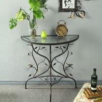 Metal Craft Coffee Table, Living Room Sofa Edge, Wrought Iron Wall Corner Entrance Tables