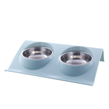 Stainess Steel  Eco-friendly Double Dog Bowl Puppy Food Feeding Fast Shipping