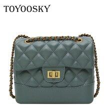 TOYOOSKY Messenger Bags Women Chains Shoulder Bag Diamond Lattice Luxury Handbags Designer Female Totes Small bolsas