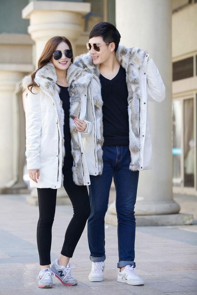 Winter Down Jacket Men Fur Parka Fashion Casual Thicken Warm Fur collar Hooded Men Women jacket&coat couple Down Jacket S-5XL (20)