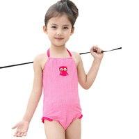 Kızlar Çocuklar Tek Parça Mayo Yaz Marka Bebek Kız Mayo Kırmızı Izgara Kız Bebek Beach Suit Için Mayo