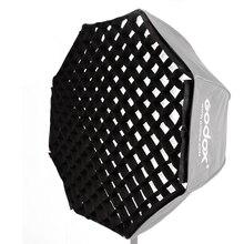 "Godox 120 cm/47 ""120 cm 블랙 싱글 그리드 우산 소프트 박스 스튜디오 사진 옥타곤 소프트 박스 riflettore 플래시 스피드 라이트"
