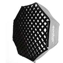 "Godox rejilla individual para paraguas, 120 cm/47 "", 120 cm, negro, Softbox octagonal para estudio fotográfico, Flash Speedlight Riflettore"