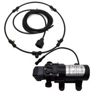 12 V DC pompası Alçak Basınç misting soğutma sistemi ile siyah hortum pirinç meme yaz sıcak satış