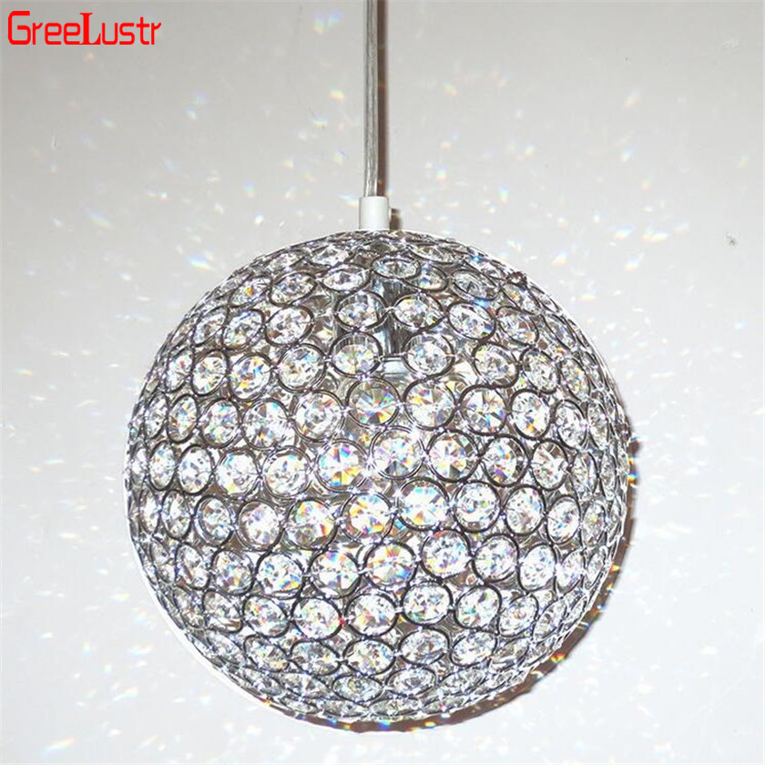 LED Ball Anhänger Lichter Kristall Anhänger Lampe Lüster Hanglamp Leuchten Lamparas Colgantes Abajur Leuchten für Esszimmer E27