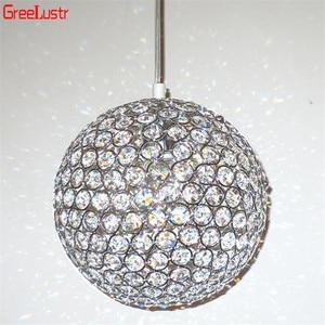Image 3 - LED Ball Pendant Lights Crystal Pendant Lamp Lustres Hanglamp Fixtures Lamparas Colgantes Abajur Luminaires for Dining Room E27