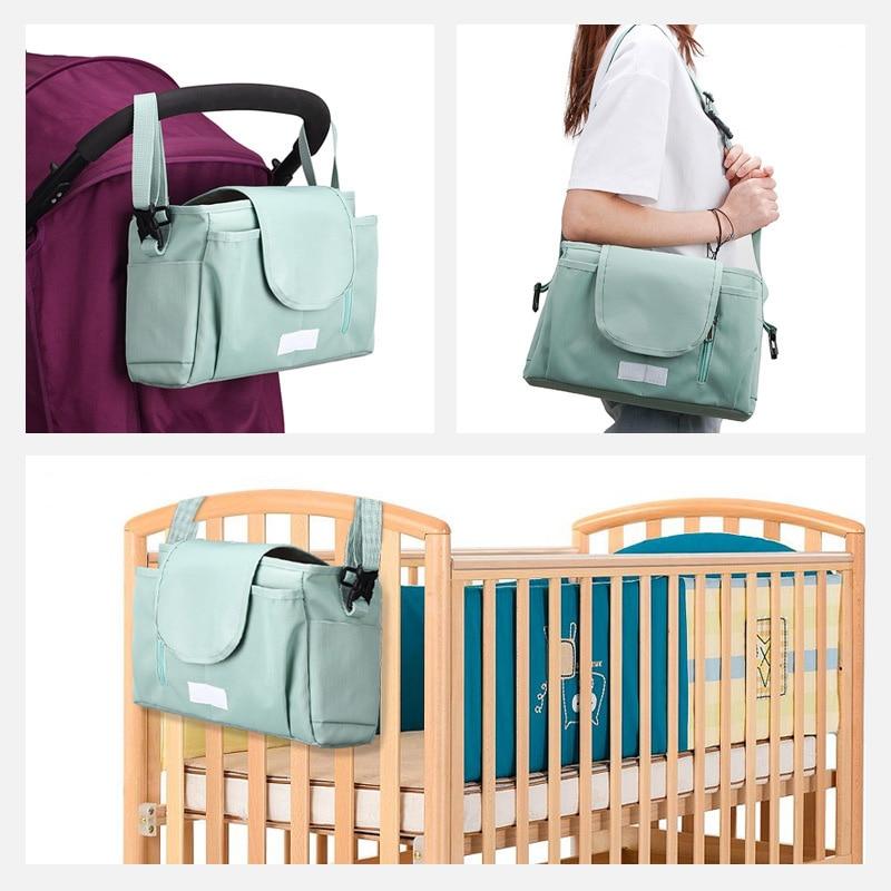 HTB1T1Ela2WG3KVjSZFgq6zTspXaX SeckinDogan Baby Stroller Bag Large Capacity Diaper Bags Outdoor Travel Hanging Carriage Mommy Bag Infant Care Organizer