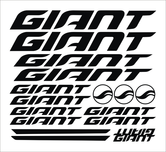 2016 new giant brand motorcycle stickers bicycle frame stickers cycling diy stickers frame decals decorative decal
