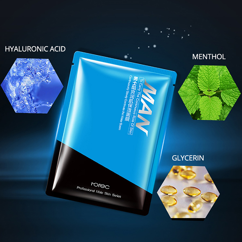 ROREC Facial Masks Hyaluronic Acid Collagen Essence Skin Care Deep Cleansing Purifying Pores Moisturizing oil control Face Mask in Treatments Masks from Beauty Health