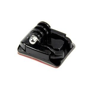 Image 3 - SnowHu per accessori GoPro supporto per casco curvo + 3M adesivo fibbia supporti curvi di base per Gopro Hero 9 8 7 6 Yi 4K GP13