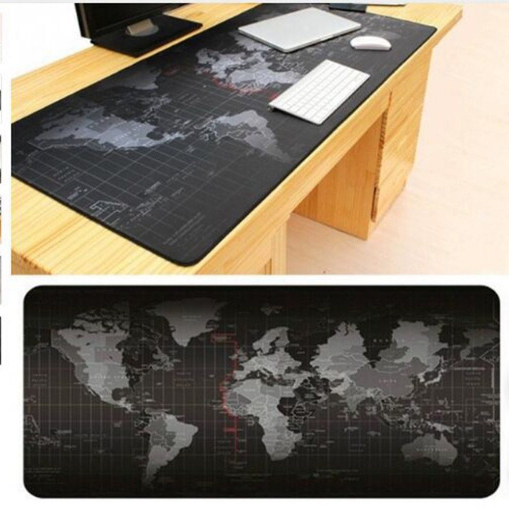 3007002mm super large size keyboard mat world map pattern gaming computer mouse keyboard rubber mat pad table pad