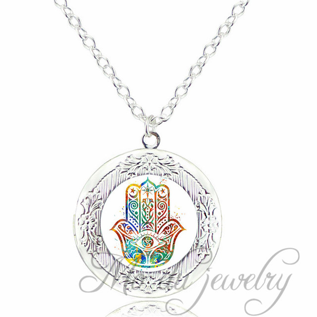 Fatima hand judaica kabbalah charm miriam hand locket pendant fatima hand judaica kabbalah charm miriam hand locket pendant necklace hamsa hand amulet lucky necklaces hand mozeypictures Gallery