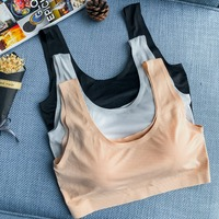 Pregnant women bra new casual rimless tube top style gathered vest solid color anti light underwear anti sag bra
