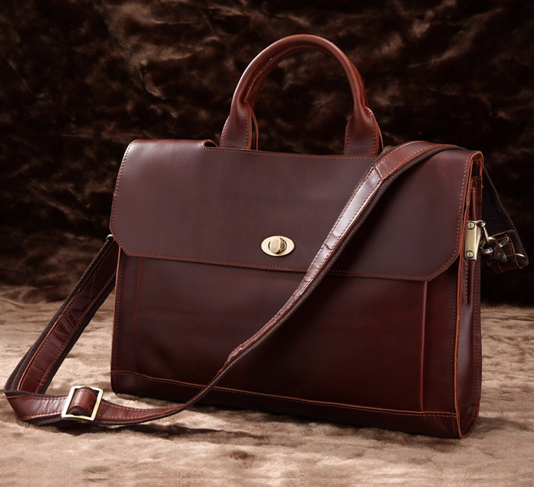 JMD Guarantee Genuine Leather Vintage Style Briefcase Classic14 Inch Laptop Bag For Business Men Fashional Handbag 7166C jmd 100% guarantee genuine vintage leather women s tote shoulder bag for shopping 7271c
