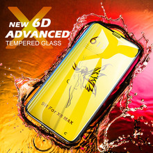 MEIZE Advanced 6D Phone Screen Protector for iPhone x xr xs max glass on the iphone tempered
