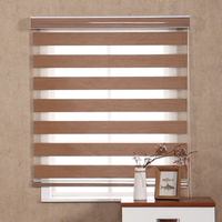 Zebra roller Shades 5 Colors blackout Cloth Bead Chain Roller Blind Window Roller Shades Aluminum Up Down Rail