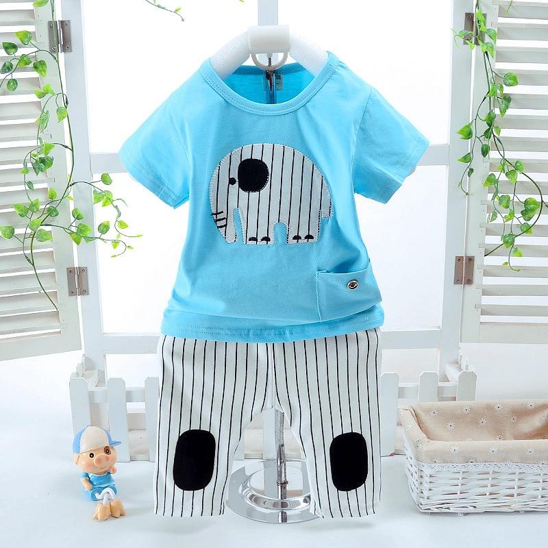 2Pcs / Lot Nova modna ljetna odje & # 263; a za dje & # - Odjeća za bebe