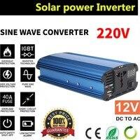 Vehemo 1200W Car Inverter 12v 220v 50Hz Auto Inverter 12 220 Cigarette Lighter Plug Power Converter
