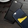 """X-nível de Caso para o iphone 6 6 s 4.7 """"Case para iPhone 6 plus 6 s plus 5.5"""" Slot Para Cartão de Couro PU Caso de Telefone de Luxo"""