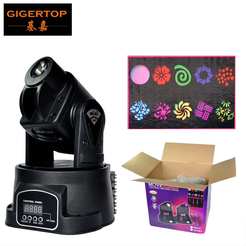 Sample 15W Mini Led Moving Head Wash Light With Gobo Plate,RGB Multi-Color Change DMX 512 Mini Led Moving Head 5/13DMX Channels