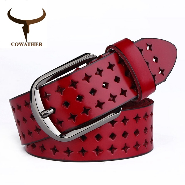 Pin Buckle Genuine Leather Belts For Women