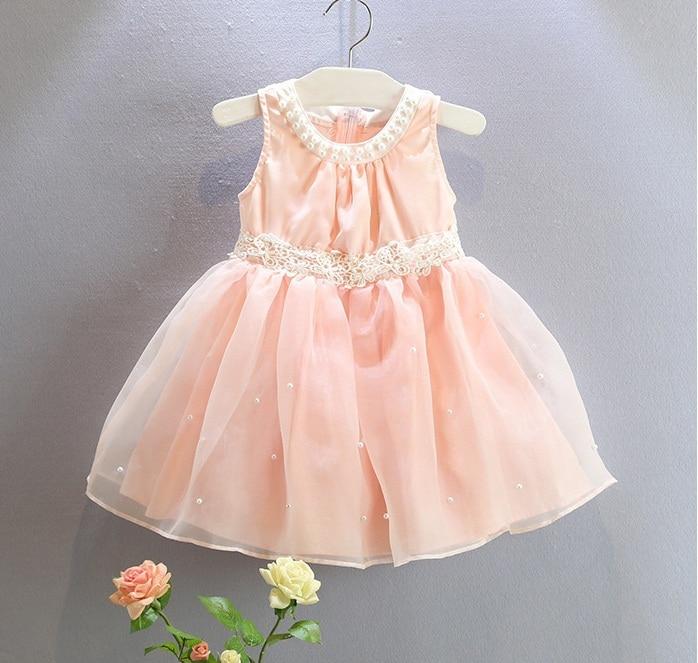 Fantástico Vestidos De Fiesta De Color Rosa Para Los Bebés Colección ...