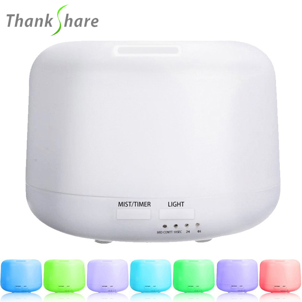 300ml Ultrasonic Air Humidifier 7 color LED Light Electric Aromatherapy Essential Oil Aroma Diffuser  Mist Maker for Home remote control air humidifier essential oil diffuser ultrasonic mist maker fogger ultrasonic aroma diffuser atomizer 7 color led