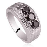Trộn Thứ Tự 5 Cái Rất Nhiều Tinh Khiết 925 Sterling Silver Rings Finger Vòng Nặng Băng cho Nam Giới MX10