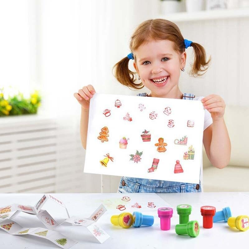 20 Stks Self-inkt Postzegels Kids Party Gunsten Voor Verjaardag Giveaways Gift Speelgoed Jongen Meisje Kerst Cadeau Goodie Bag Pinata Vulstoffen