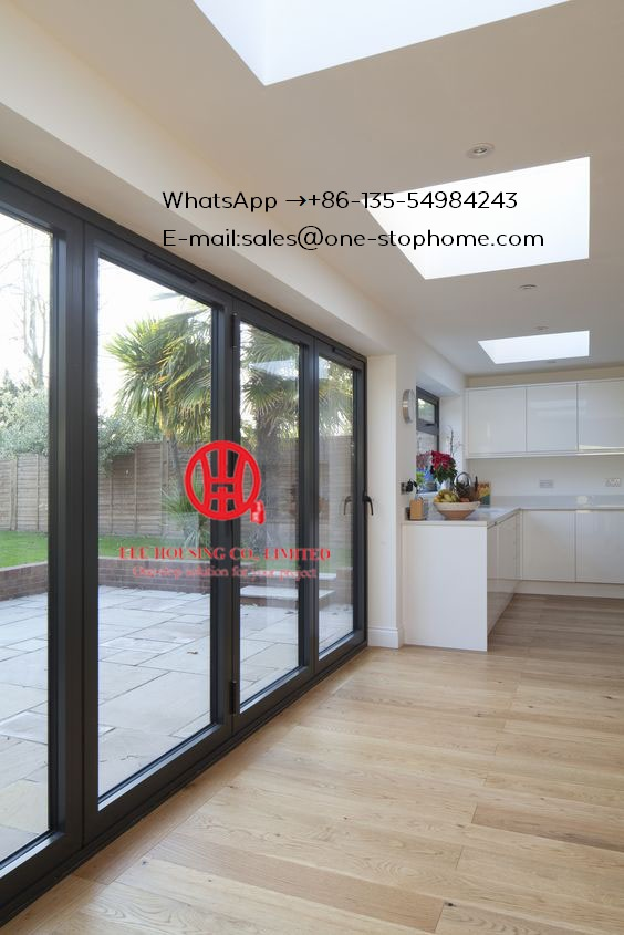 Glass Panel Aluminum Folding Door/ Bifold Door,Sound Reduction Aluminum Bi-folding Door,Australian Standards Soundproof Door