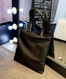 20b50a0bc21 US $5.0 |X Online hot sale women fashion bag lady big simple black bag  female large tote shopping bag-in Top-Handle Bags from Luggage & Bags on ...