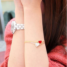 SL077 Hot Bangs Fashion 2018 New Heart Bracelets For Women Wedding Jewelry Accessories Wholesale Bijoux Bangle Cheap Aliexpress(China)