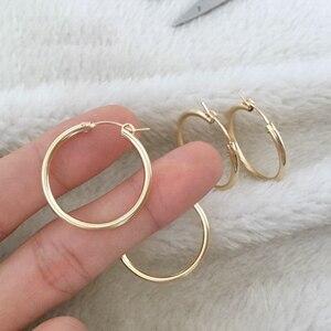 Image 5 - Boucles doreilles en or pour femmes, bijoux modernes, bijoux minimalistes, style Boho, cadeau, Vintage