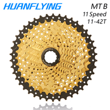 Sunshine 11speed 11-42t Cassette MTB Bicycle Freewheel Mountain Bike Flywheel Golden For Parts Shimano Xt Slx M7000 K7 Nx Gx shimano slx cs m7000 11s speed 11 42t cassette freewheel for mtb bicycle part