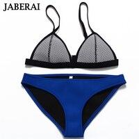 2015 New Fashion Mesh Swimwear Women Sexy Neoprene Bikini Set Neoprene Swimsuit Biquini