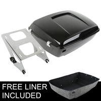 King Tour Pak Pack Trunk w/ Latch & Mounting Rack For Harley Touring Model Road King Glidel Electra 14 18 Motorcycle