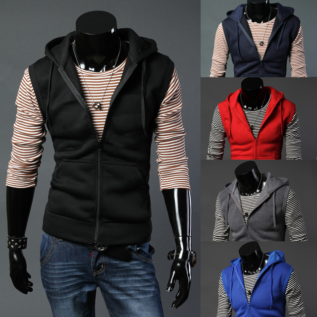 Free shipping 2017 new simple fashion plus velvet and leisure tide male couple cardigan vest 5 color 5 yards