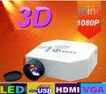 Оптовая продажа мини-av жк-цифровой проектор HDMI / VGA / V USB и SD и пульт дистанционного управления поддержка 720 P, 1080 P проектор
