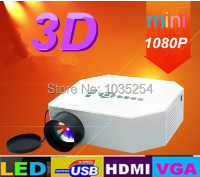 ФОТО wholesale Mini AV LCD Digital Projector HDMI/VGA A/V USB & SD including remote control support 720p,1080P projector