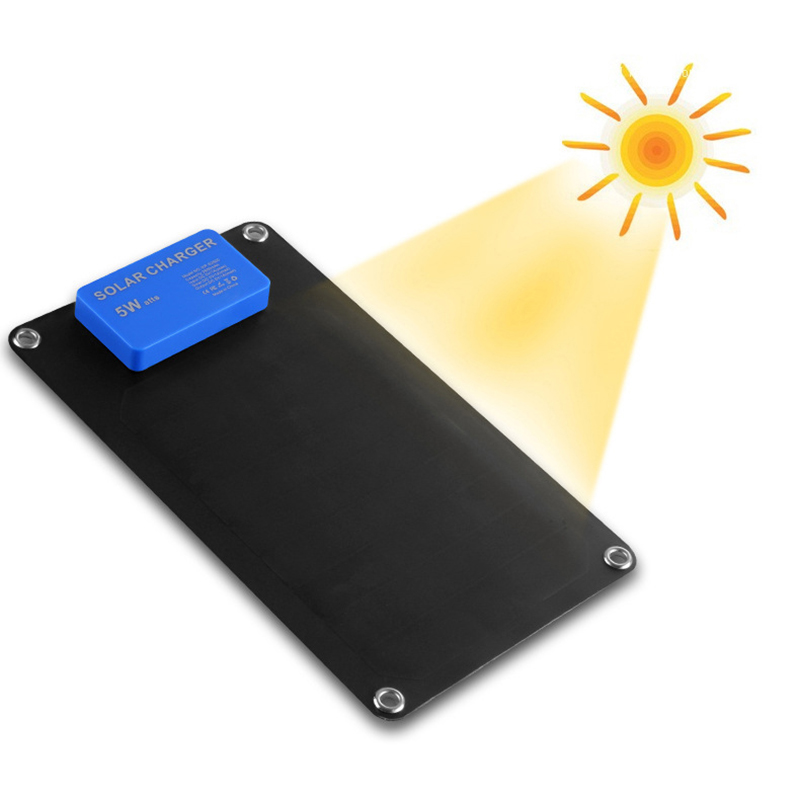 1x Wama Solar Charger 5W Solar Panels Power Bank 2600mAh Batteries USB Outdoors Adopt SUNPOWER Panel in Solar Cells from Consumer Electronics