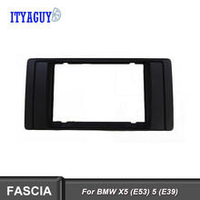 Double Din Fascia Radio CD DVD GPS Stereo Panel Dash Mount Trim Kit Interface Frame for BMW 5(E39)/X5(E53) 1995-2003 цена