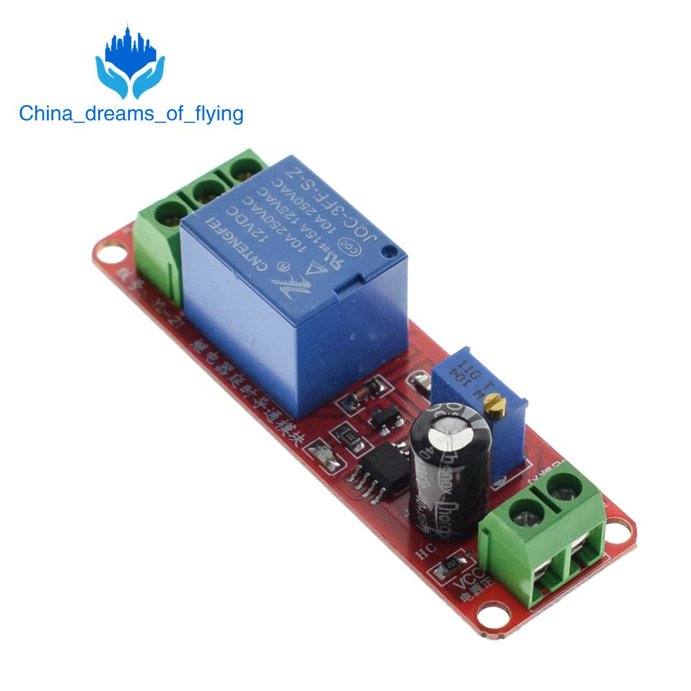 Hot Sale Tzt Ne555 Timer Switch Adjustable Module Time Delay Relay 555 Circuit Dc 12v Shield 010s