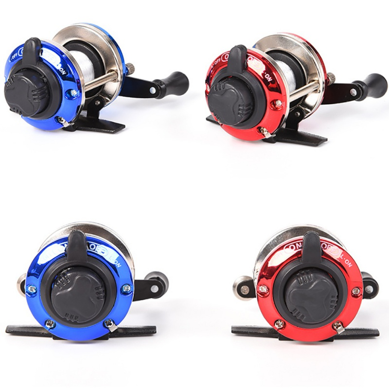 Ice Fishing Reel with 50M Wire Mini Bait Casting Spinning Roller Coil