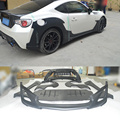 High quality GT86 BRZ W styling FRP bumper body kit for toyota,car body styling kit for GT86(12-13 fit GT86 BRZ FT86)