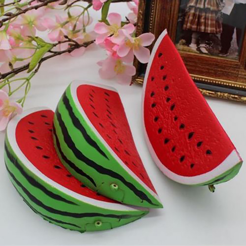 1pc Slow Rising Squishy Jumbo Watermelon Real Life Plush Stuffed Fruit Scented Bread Squeeze Toy Decor Cute Lovely Gifts New