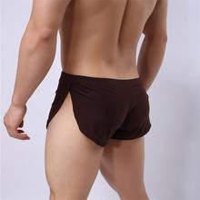 Loose Comfy Men's Boxer Shorts Pajamas Side Split Underwear Shorts Panties Underpants Trunk Sexy Cueca Homme Fashion Sleepwear