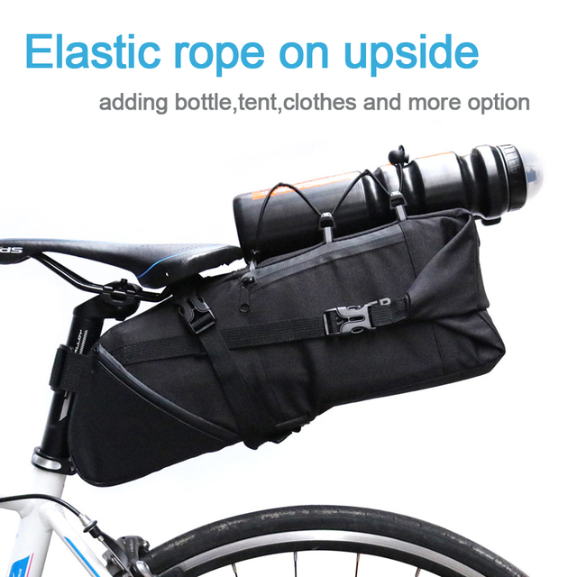 Atacado newboler bicicleta saco de sela pannier ciclo ciclismo mtb estrada da bicicleta saco de assento 8-10l mochila à prova dwaterproof água capa de chuva 6