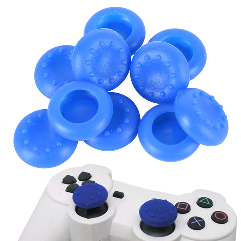 10pcs/lot Rubber Silicone Cap Analog Controller Silicone Cap Cover Thumb Stick Grip For PS3 PS4 XBOX 360